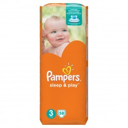 PAMPERS SLEEP&PLAY 3 58 SZT